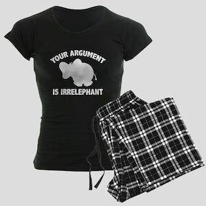 Your Argument Is Irrelephant Women's Dark Pajamas