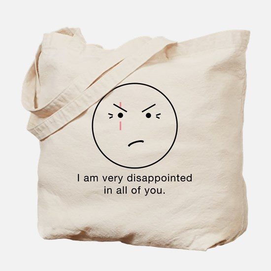 LOST Disappointed - Light, trans Tote Bag