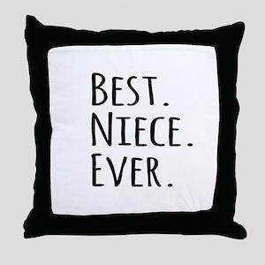 Best Niece Ever Throw Pillow