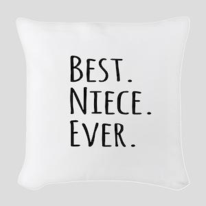 Best Niece Ever Woven Throw Pillow