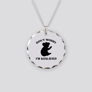 Don't Worry I'm Koalafied Necklace Circle Charm