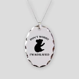 Don't Worry I'm Koalafied Necklace Oval Charm