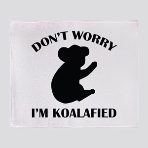 Don't Worry I'm Koalafied Stadium Blanket