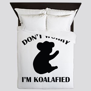 Don't Worry I'm Koalafied Queen Duvet