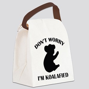 Don't Worry I'm Koalafied Canvas Lunch Bag