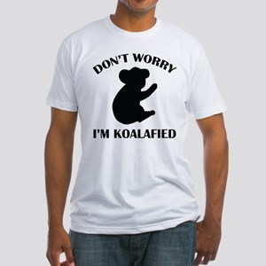 Don't Worry I'm Koalafied Fitted T-Shirt