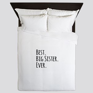 Best Big Sister Ever Queen Duvet