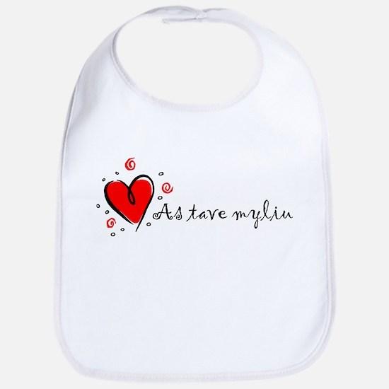 """""""I Love You"""" [Lithuanian] Bib"""
