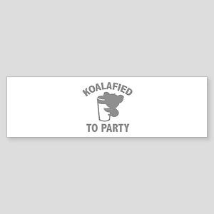 Koalafied To Party Sticker (Bumper)
