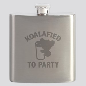 Koalafied To Party Flask