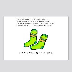valentine gifts and apparel Postcards (Package of