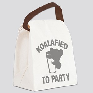 Koalafied To Party Canvas Lunch Bag
