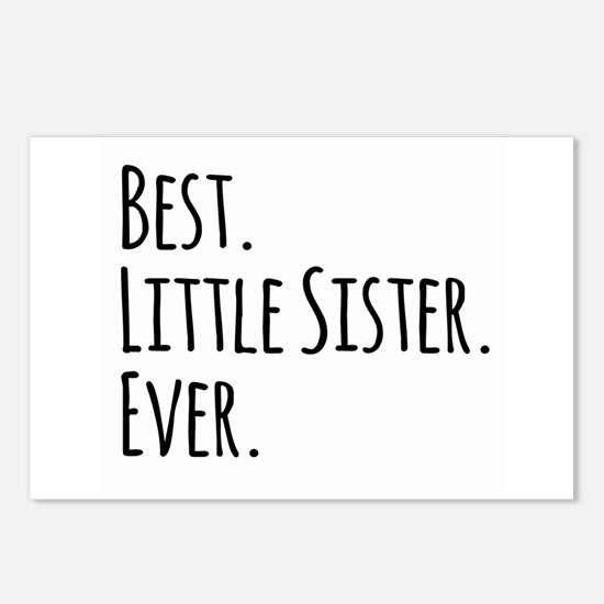 Best Little Sister Ever Postcards (Package of 8)