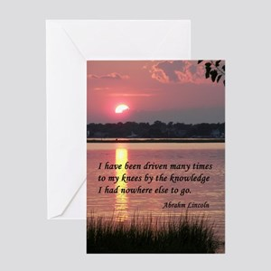 i have been driven Greeting Card