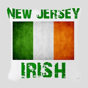 new_jersey_irish_2 Woven Throw Pillow