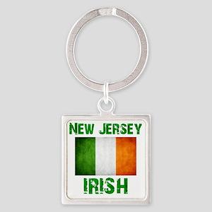 new_jersey_irish_2 Square Keychain