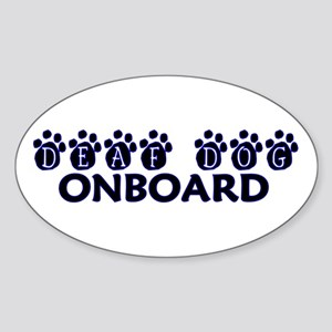 Deaf Dog Onboard Oval Sticker