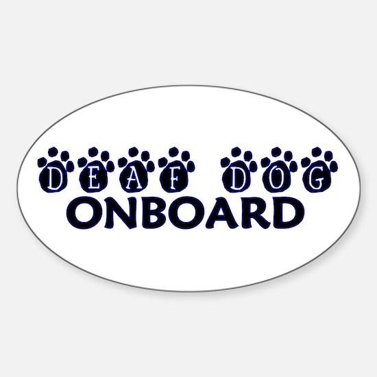 Deaf Dog Onboard Oval Decal