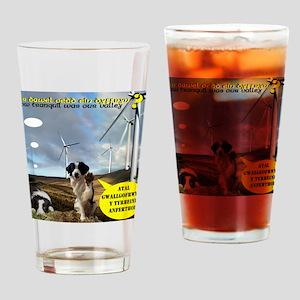 Anti Windfarm Welsh Mountains Borde Drinking Glass