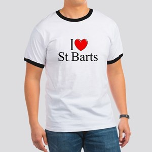 """I Love St. Barts"" Ringer T"
