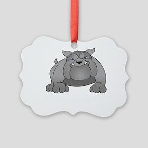 2-bulldogdark Picture Ornament