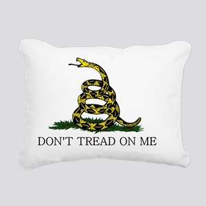 Gadsden Flag - White Rectangular Canvas Pillow