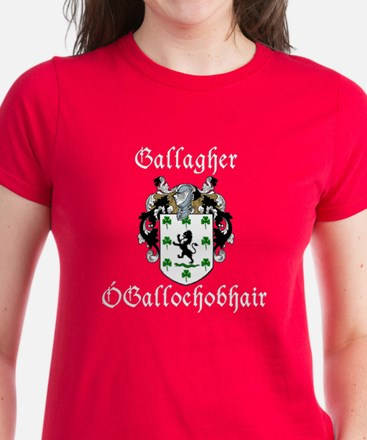 Gallagher In Irish & English Women's Dark T-Shirt