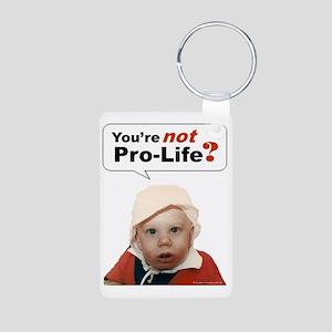 Abortion7 NOT AN OPT... Aluminum Photo Keychain