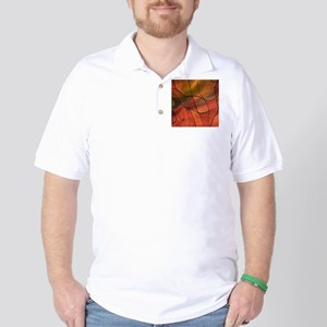 feelings abstract red Golf Shirt