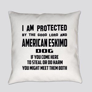 I am protected by the good lord an Everyday Pillow