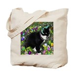 Freckles Tux Cat Easter Eggs Tote Bag