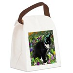 Freckles Tux Cat Easter Eggs Canvas Lunch Bag