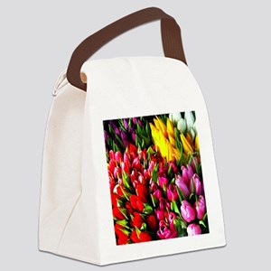 Bodega Tulips Tote Canvas Lunch Bag