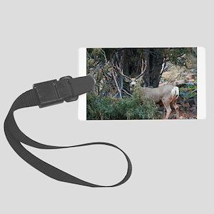 Mule deer spur buck Large Luggage Tag