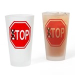 TOP Sign Drinking Glass