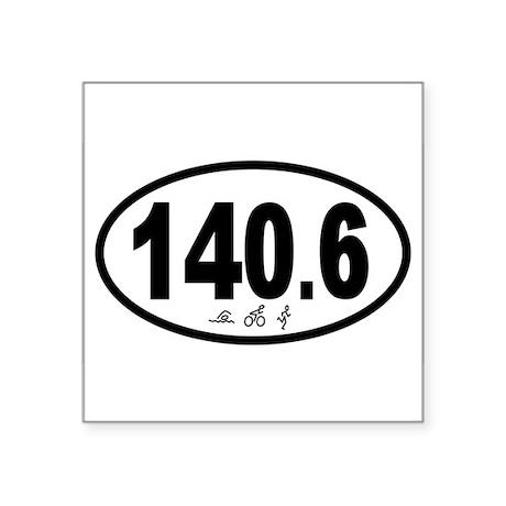 140.6 Triathlon Oval Sticker