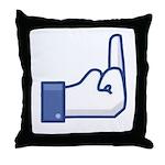 F-FB Throw Pillow