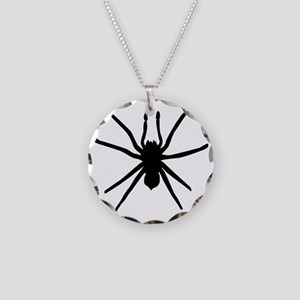 Spider Necklace Circle Charm