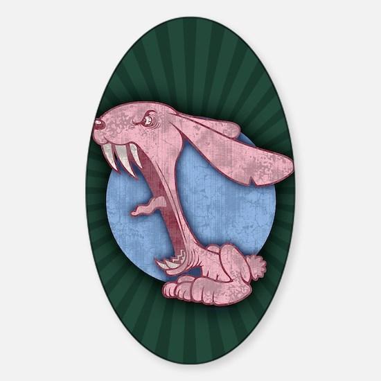 bunny-evil-pnk-CRD Sticker (Oval)