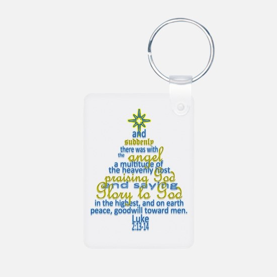 Luke 2:13-14 Keychains