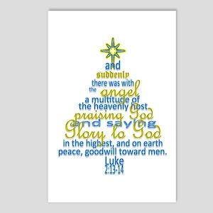 Luke 2:13-14 Postcards (Package Of 8)