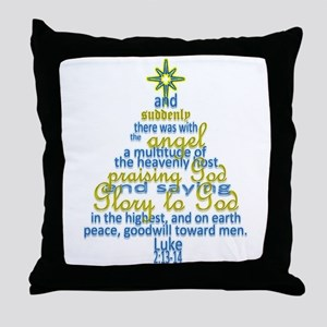 Luke 2:13-14 Throw Pillow