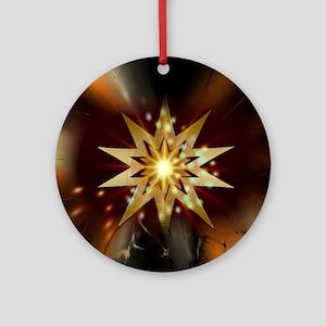 Star002a Round Ornament