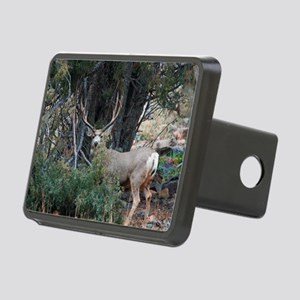 Mule deer spur buck Rectangular Hitch Cover