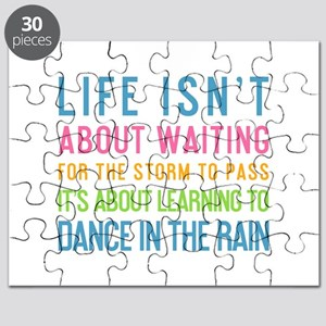 Dancing In The Rain Quotes Puzzles Cafepress