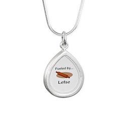 Fueled by Lefse Silver Teardrop Necklace