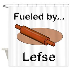 Fueled by Lefse Shower Curtain