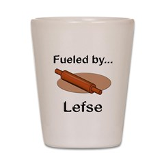Fueled by Lefse Shot Glass