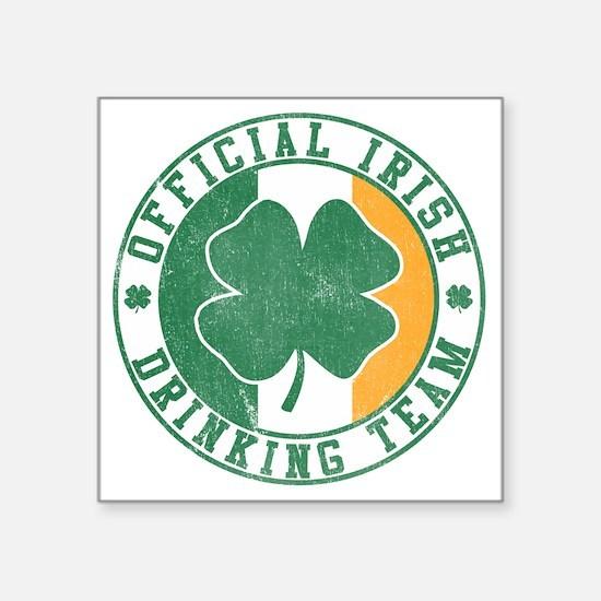 "Official Irish Drinking Tea Square Sticker 3"" x 3"""