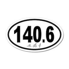 140.6 Triathlon 20x12 Oval Wall Peel